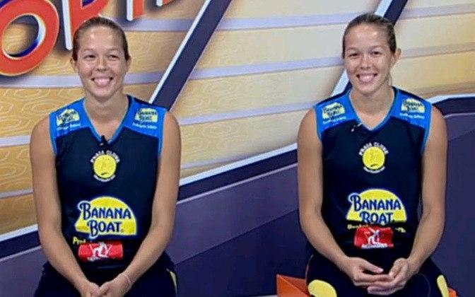 Com passagens pela Seleção Brasileira de vôlei, as gêmeas Michelle e Monique Pavão defendem o Dentil/Praia Clube na Superliga.