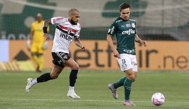 Com um bom desempenho na segunda etapa, o São Paulo conquistou sua primeira vitória sobre o Palmeiras no Allianz Parque. Daniel Alves e Reinaldo foram os melhores em campo  - Por