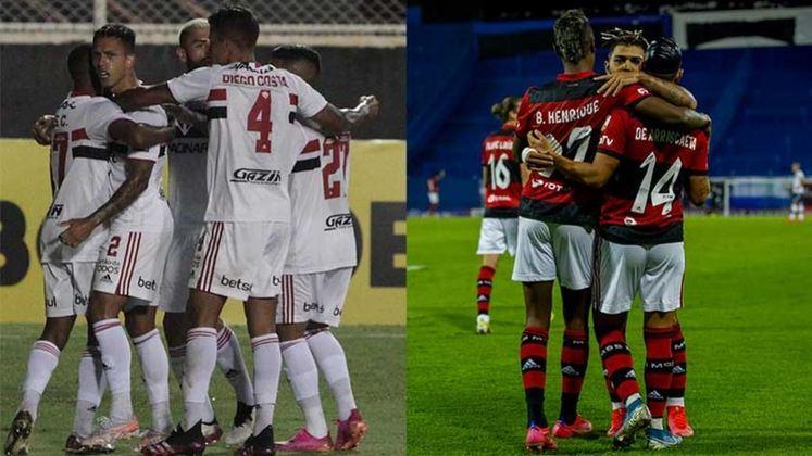 Com um bom início de temporada, São Paulo e Flamengo estão entre os líderes do ranking dos times da Série A do Brasileirão que marcaram mais gols na temporada de 2021. Até aqui, o Tricolor Paulista e o Rubro-Negro já balançaram as redes 28 vezes. Enquanto isso, alguns times como Santos e Corinthians deixam a desejar. Confira o ranking completo!