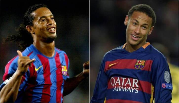 Com um título de Champions League, temos grandes nomes do futebol brasileiro como Ronaldinho, Neymar, Alisson, Kaká, Rivaldo, Cafu, entre outros