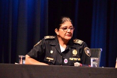 A comandante Elza Paulina, responsável pelo Programa Guardiã Maria da Penha