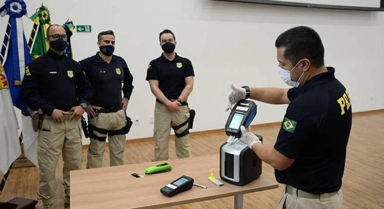 Capacitação dos policiais rodoviários federais, com treinamento para a coleta, ocorreu de 3 a 6 de agosto