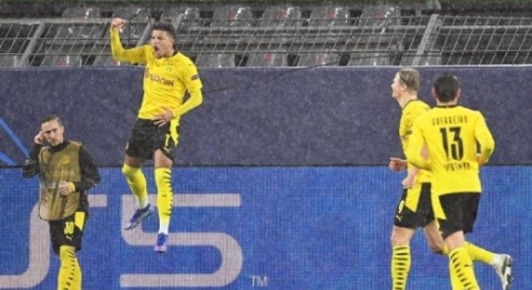 Comemoração Jadon Sancho - Borussia Dortmund x Zenit
