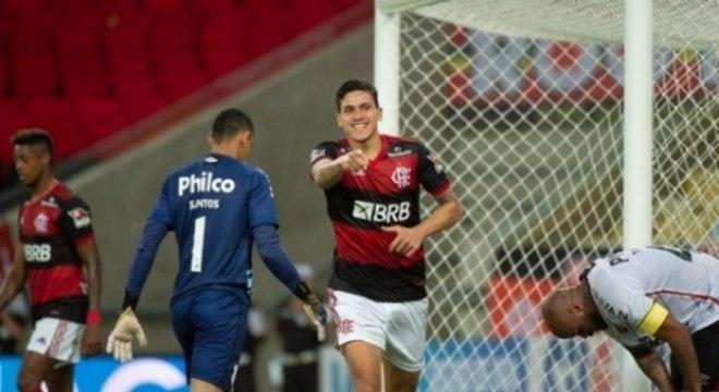 Comemoração Pedro - Flamengo x Athletico PR