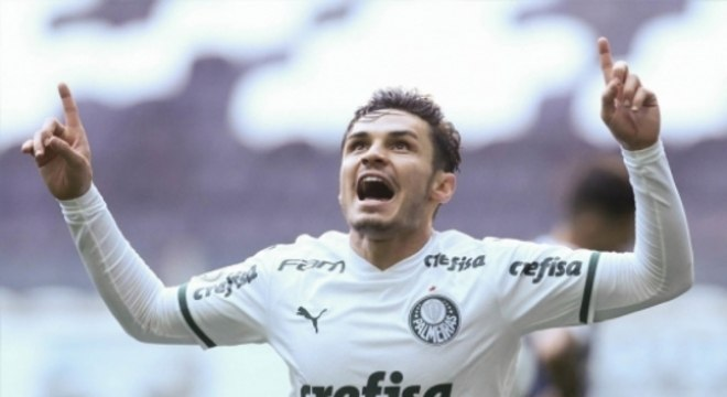 Comemoração Raphael Veiga - Grêmio x Palmeiras
