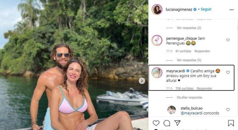 Comentário de Mayra sobre namorado de Gimenez