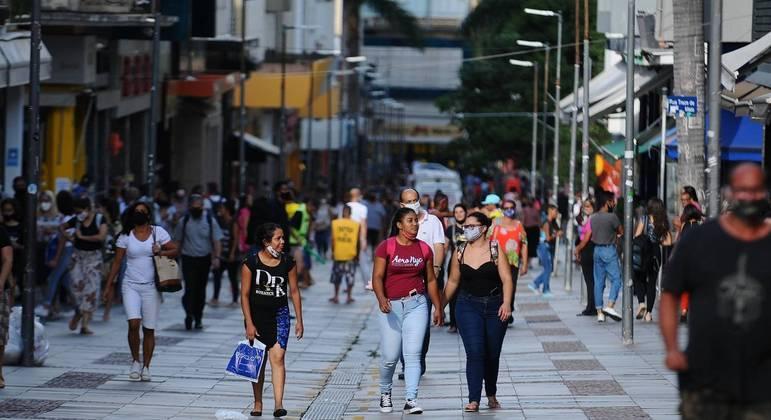 Comércio no centro de São Paulo