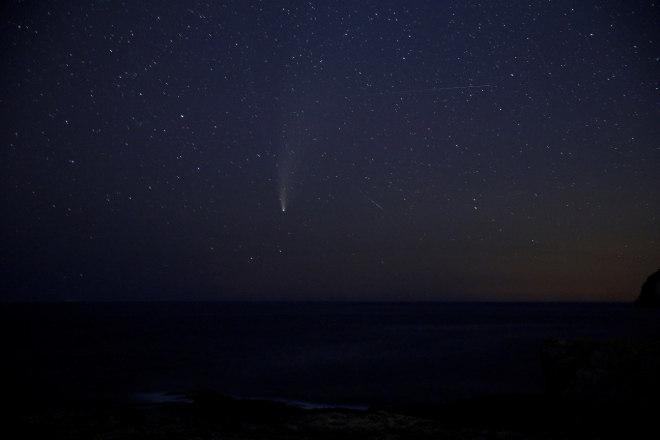 Em Malta, arquipélago no Mediterrâneo, o Neowise foi registrado no céu no dia 22 de julho