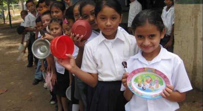A ideia é ajudar crianças para que tenham sempre comida