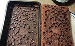 Os chocolates desistiram de fazer parte do brownie