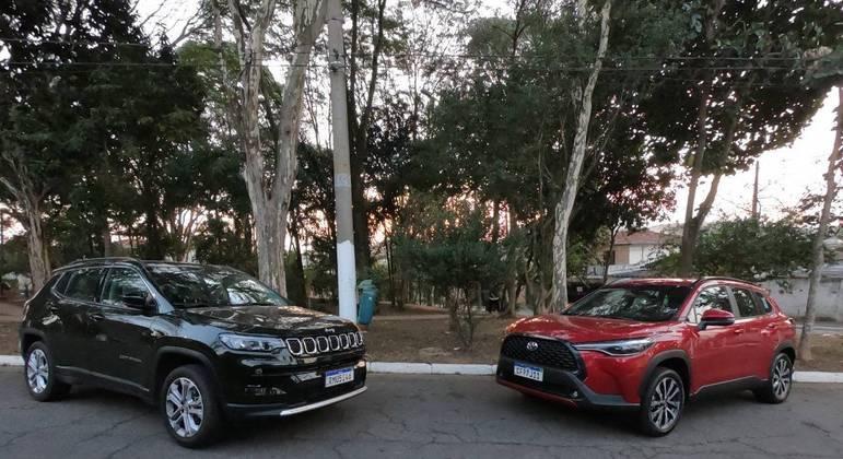 Jeep Compass e Toyota Corolla Cross frente a frente