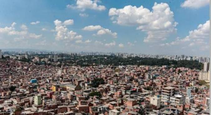 Vista da comunidade de Paraisópolis, na zona sul de São Paulo (SP)