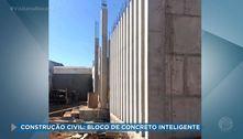 Construção civil: bloco de concreto inteligente