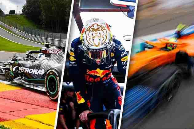 Confira imagens do primeiro dia de treinos da Fórmula 1 para o GP da Bélgica