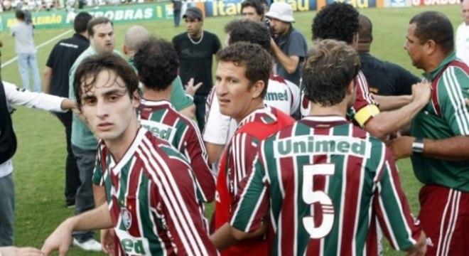 Confusão no jogo Coritiba x Fluminense em 2009