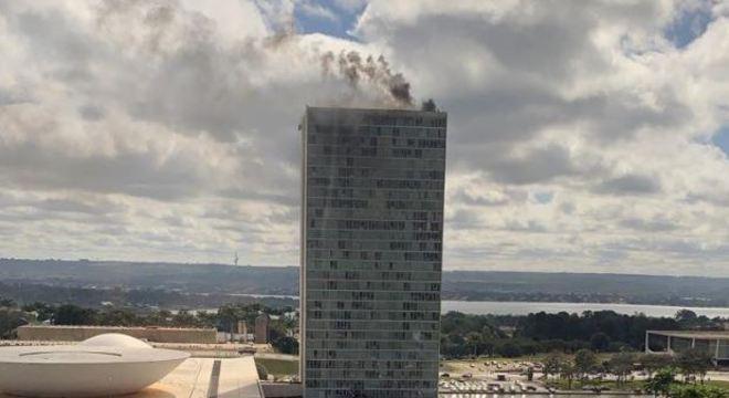 Congresso em chamas? Simulação de incêndio chamou a atenção de brasilienses