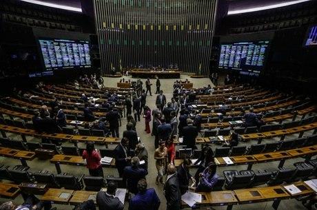 Movimentação no plenário do Câmara dos Deputados