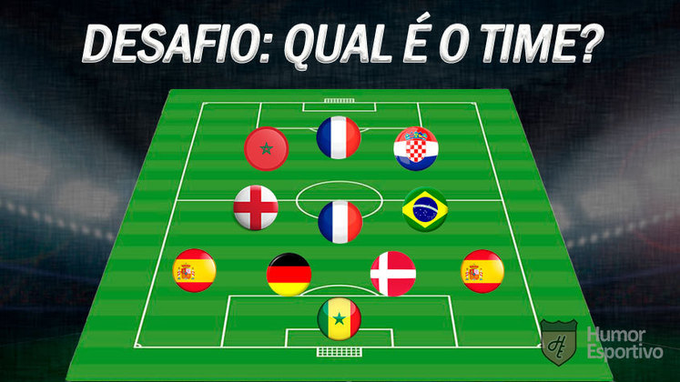 Consegue acertar qual é o time pela nacionalidade dos jogadores? Atenção que nem sempre são todos os titulares do momento!
