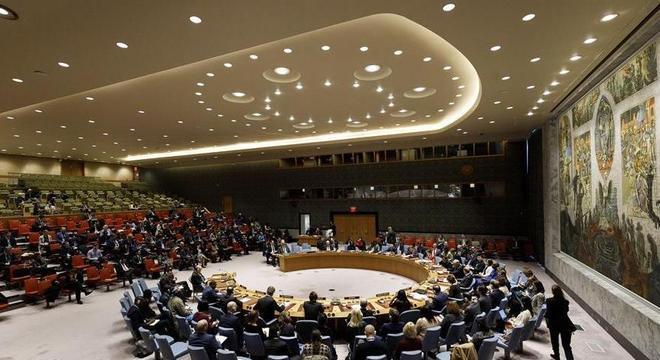 Conselho de Segurança da ONU reunido em fevereiro deste ano