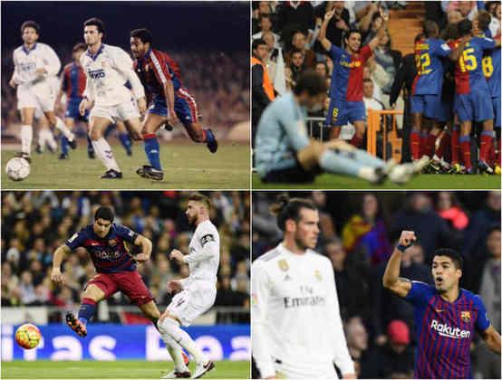 Considerado por muitos como o maior clássico do mundo, não só pela grandeza das duas equipes, mas também por questões políticas envolvendo a capital espanhola e a Catalunha, o duelo entre Barcelona e Real Madrid é recheado de jogos marcantes. E dentre esses jogos marcantes, o time bluagurana goleou o maior rival algumas vezes, seja no Camp Nou, no Santiago Bernabéu ou até mesmo em seus respectivos estádios anteriores aos atuais. Veja a seguir algumas dessas goleadas.