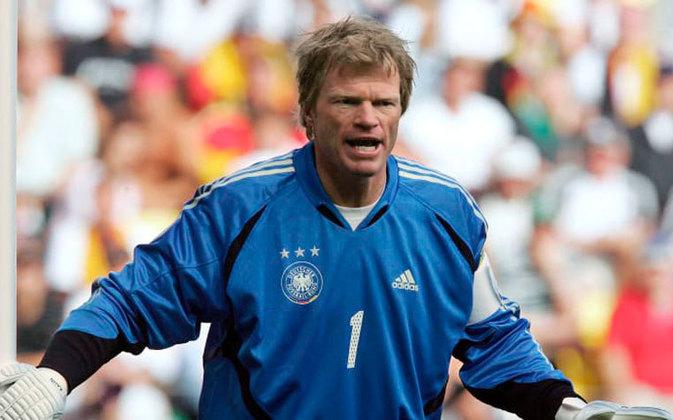 Considerado um dos maiores goleiros do futebol alemão de todos os tempos, Oliver Kahn foi considerado o melhor jogador da Copa de 2002