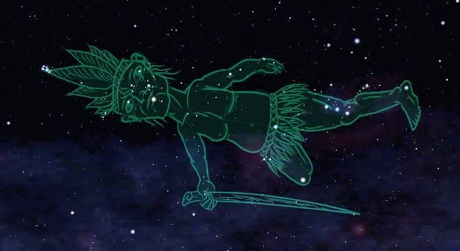 Constelação indígena Homem Velho