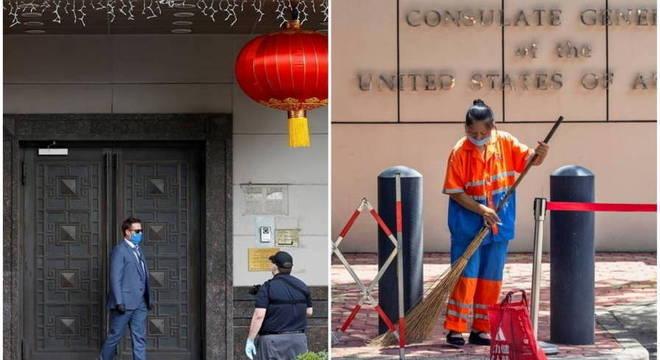 Tensão diplomática: EUA e China fecharam consulados em Houston e Chengdu