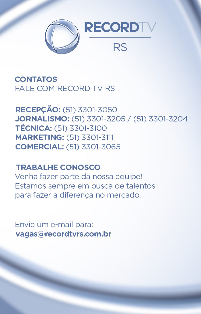 Contatos da Record TV RS