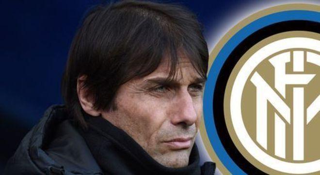 Antonio Conte, no domingo, contra a sua equipe do coração