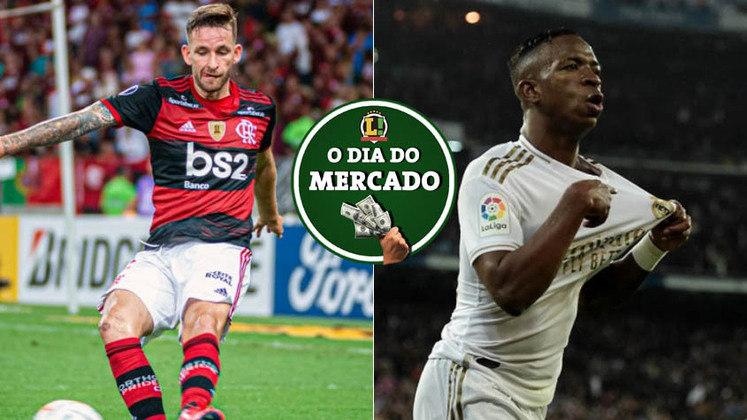 Contestado no Flamengo, Léo Pereira recebeu oferta de clube europeu e seu futuro n Flamengo é incerto. Vinícius Júnior é procurado por clubes da Premier LEague e pode agitar o mercado de transferências na janela de verão europeia. Tudo isso e muitos outros destaques, no Dia do Mercado de quinta-feira. (por Redação São Paulo)