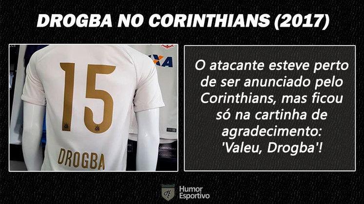 Contratações 'fail' do futebol brasileiro: Drogba no Corinthians