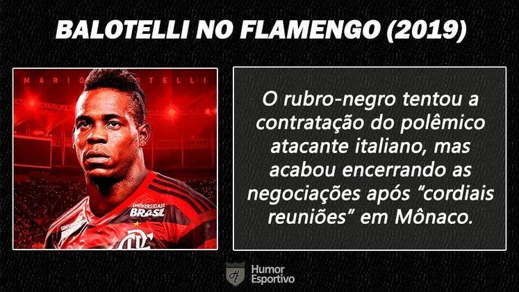 Contratações 'fail' do futebol brasileiro: Mario Balotelli no Flamengo