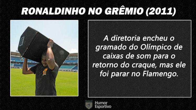 Contratações 'fail' do futebol brasileiro: o retorno de Ronaldinho Gaúcho ao Grêmio