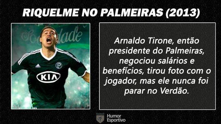 Contratações 'fail' do futebol brasileiro: Riquelme no Palmeiras
