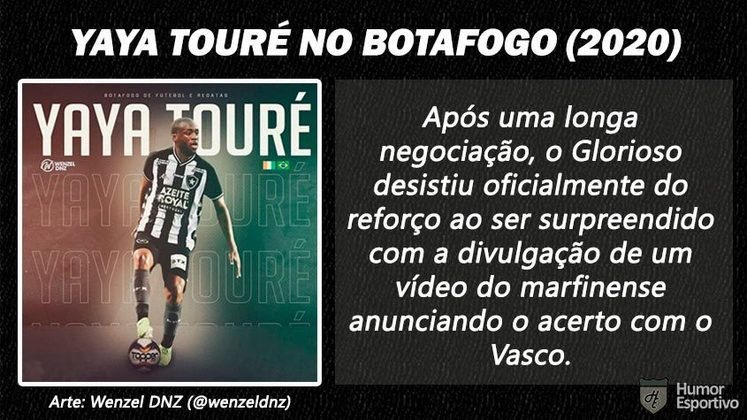 Contratações 'fail' do futebol brasileiro: Yaya Touré no Botafogo