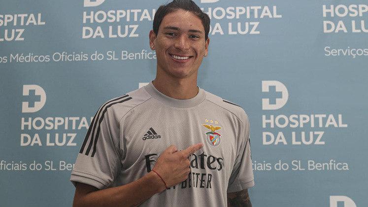 Contratado após se destacar no Almería, com 16 gols em 30 jogos, o jovem atacante Darwin quer fazer história no Benfica. O jogador tem 21 anos e passagem pela seleção do Uruguai.