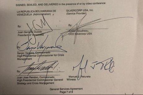 Contrato da Silvercop assinado por Rendón e Guaidó