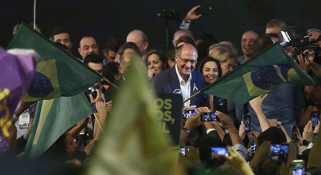 Geraldo Alckmin, do PSDB, costurou ampla aliança com nove partidos