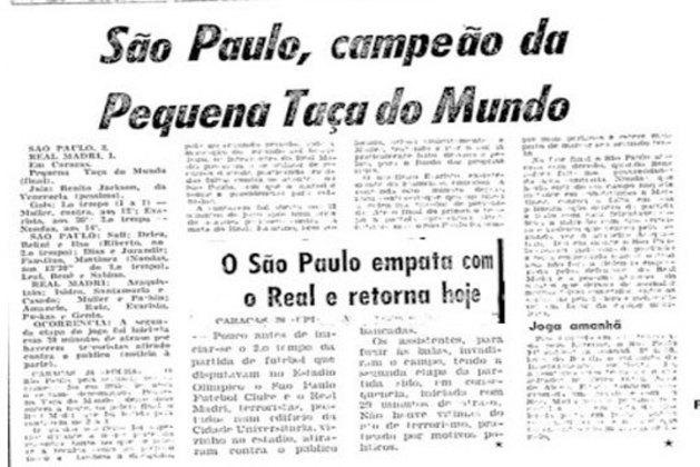 Convidado pela CBD (Confederação Brasileira de Desportos), antiga CBF, o São Paulo jogou duas edições da Pequena Copa do Mundo. Na primeira, levou não um, mas cinco troféus, ao vencer, de maneira invicta, Benfica, Valência e La Salle-VEN. Na segunda ocasião, em 1963, o Tricolor jogou contra Real Madrid e Porto. O São Paulo levou o título após vencer o Porto e conseguir uma vitória e um empate em dois jogos contra a equipe espanhola.
