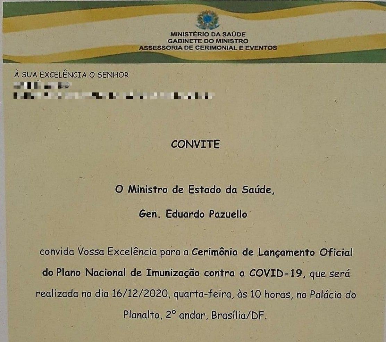 E-mail disparado nesta tarde pelo Palácio do Planalto a autoridades