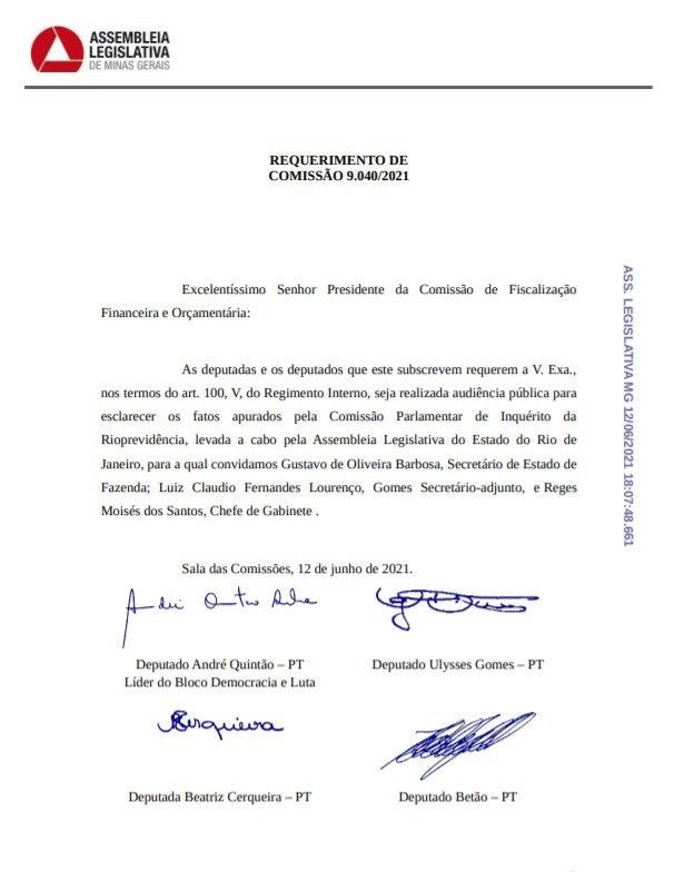 Deputados querem ouvir o secretário da Fazenda sobre as apurações de CPI no Rio