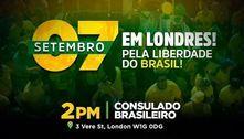 Sete de Setembro: apoiadores de Bolsonaro planejam ato em Londres