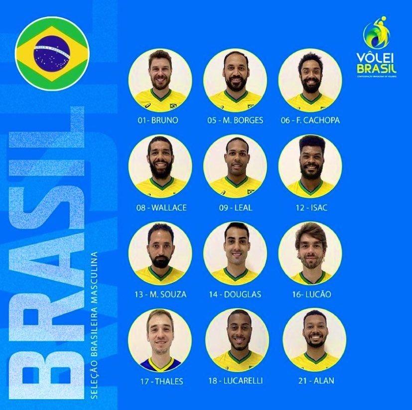 Os 12 convocados por Renan Dal Zotto