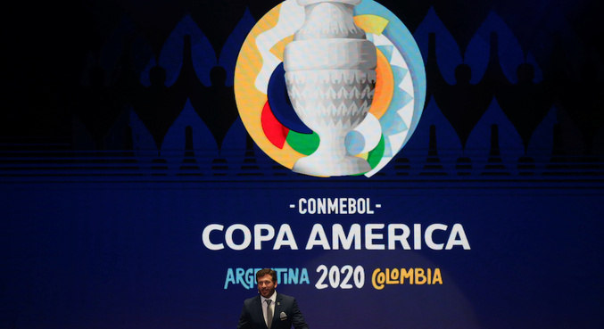 Copa América 2020 está prevista para a Argentina e para a Colômbia