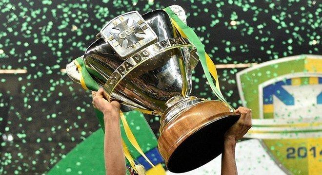 A taça da Copa do Brasil