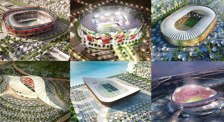 Seis dos estádios da Copa do Qatar
