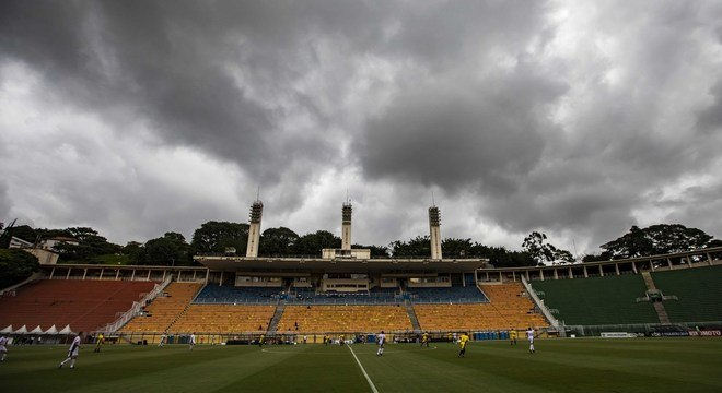 Estádio de grandes jogos, o Paulo Machado de Carvalho recebeu a partida