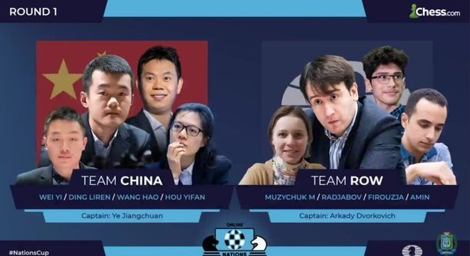 China X Resto do Mundo, os escolhidos para a primeira porfia