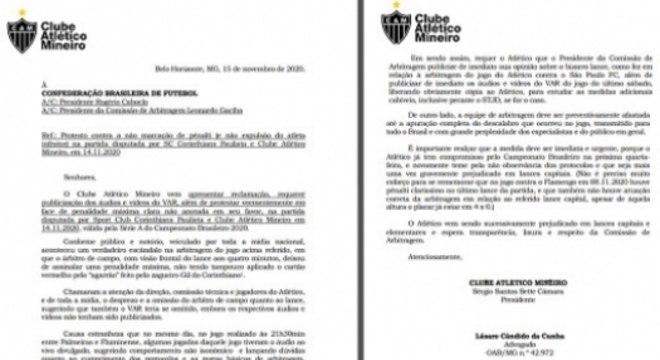 Cópia do ofício enviado à CBF para Rogério Caboclo e Leonardo Gaciba