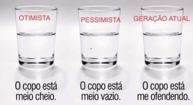 Imagem de três copos provocou reação na redes